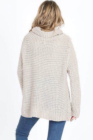 Cool Night Criss Cross Sweater -  Light Gray