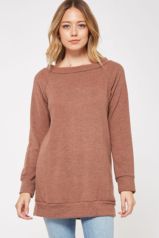 Off Shoulder Tunic - Marsala