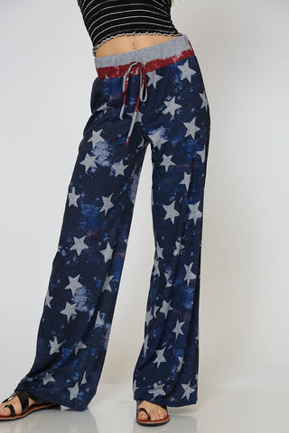 American Flag Lounge Pants - Blue Stars