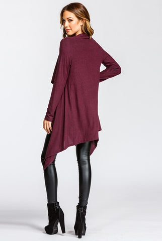 Wrap Cardigan - Burgundy