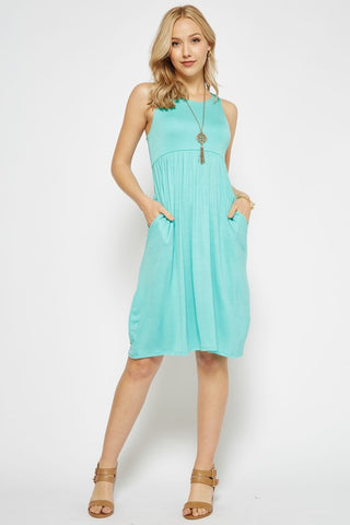 Spring Sunshine Racerback Midi Dress - Mint