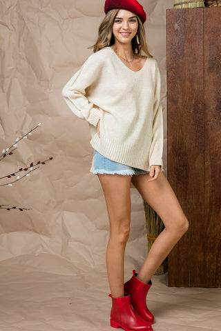 High Low Sweater - Off White