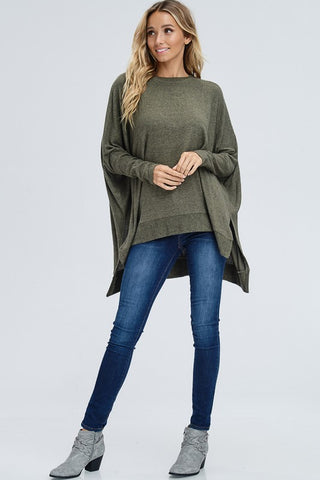 Blustery Fall Day Top - Olive