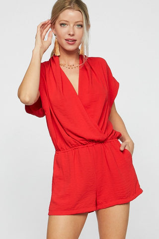 Summer Nights Dolman Sleeve Romper - Fuchsia