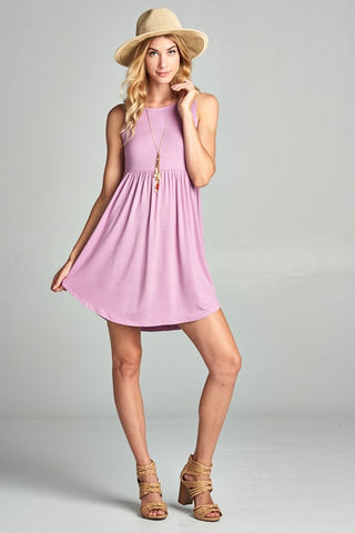 Simple Tank Style Dress - Lily Lavender
