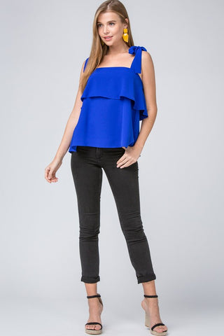 Bow Strap Top - Royal