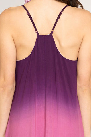 Breezy Summer Dip Dyed Maxi - Purple