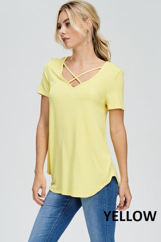 Criss Cross Top - Yellow