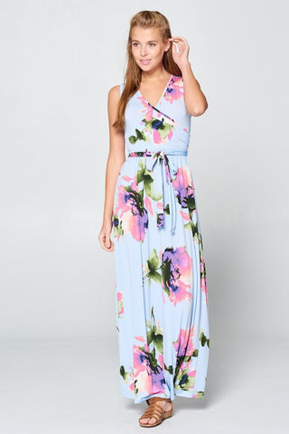 A Night in Maui Maxi Dress - Light Blue