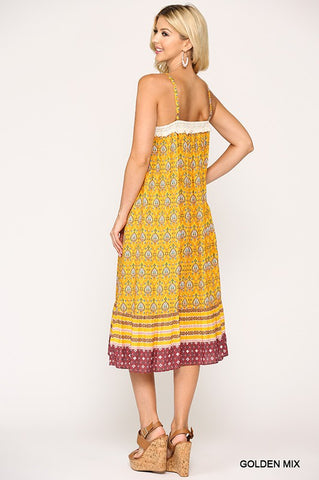 Casual Spring Sundress - Golden Yellow