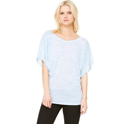 Flowy Dolman Top - Light Blue
