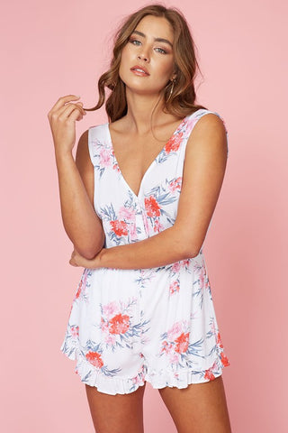 Little Pink Flowers Romper