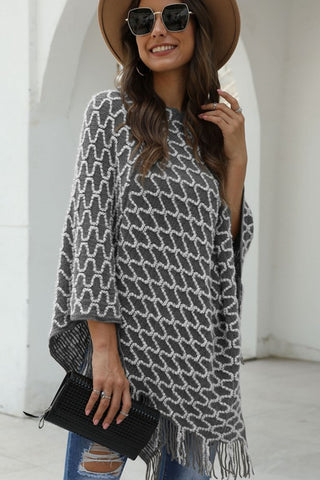 City Chic Poncho - Gray