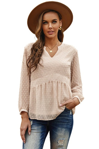 Baby Doll Top - Beige