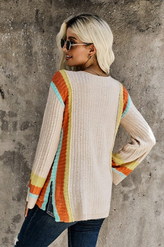 Bell Sleeve Sweater - Apricot
