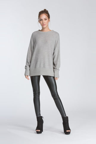 Fireside Warmth Sweater - Heather Gray