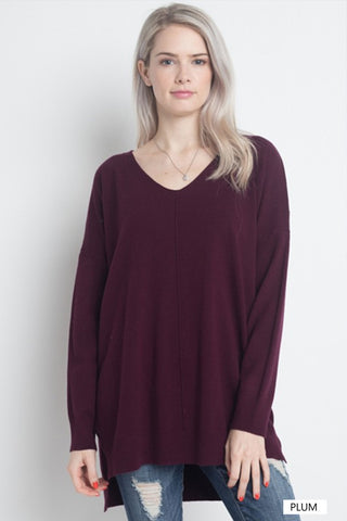 Soft Touch Sweater - Plum