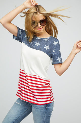 Color Block Flag Top