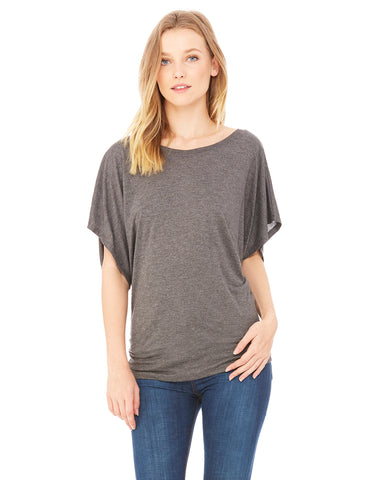 Flowy Dolman Top - Dark Gray