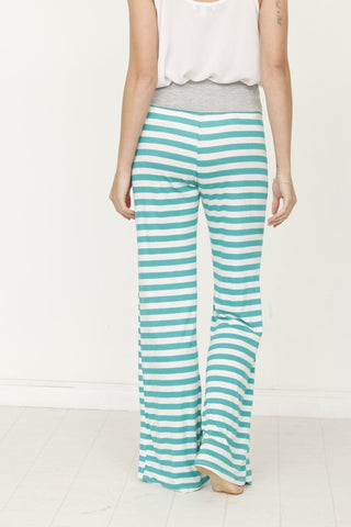 Striped Lounge Pants - Mint