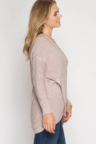 Fall Frame of Mind Sweater - Light Taupe