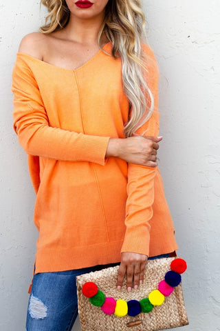 Soft Touch Sweater - Orange