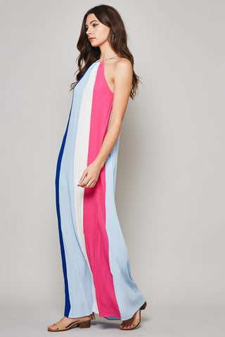 Summer Cheer Striped Maxi Dress