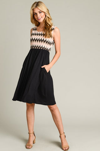Summer Stroll  Dress - Black
