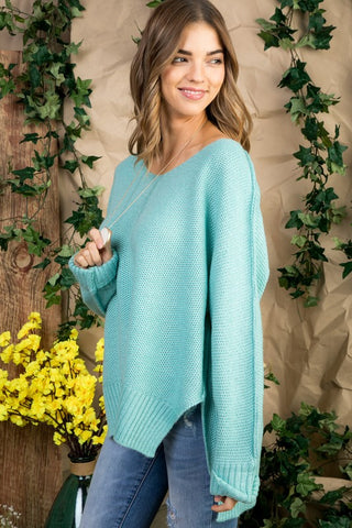 High Low Sweater - Mint