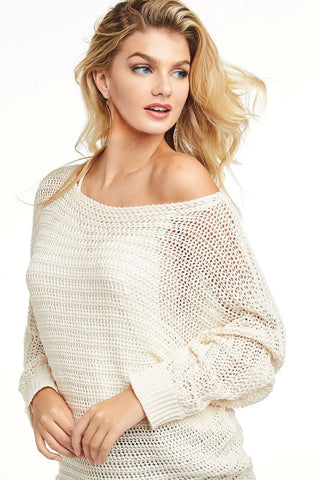 Loose Knit Lightweight Sweater - Ivory