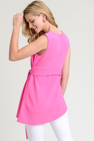 Sleeveless Sash Top - Fuchsia