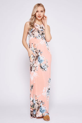 Garden Party Maxi Dress - Pink Bouquets
