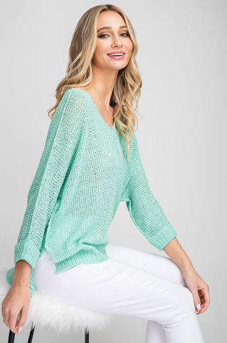 Crew Neck Sweater - Mint