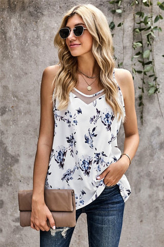 Springtime Joy Tank Top - White