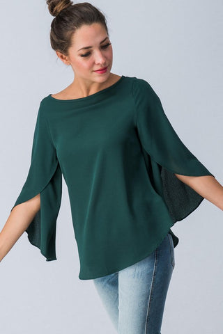 Fall Flare Top - Green