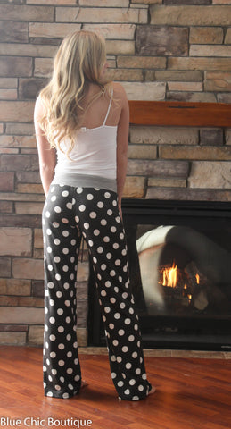Casual Polka Dot Pants - Coral - Blue Chic Boutique  - 6