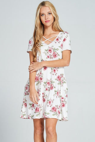 Spring in her Step Dress - Ivory