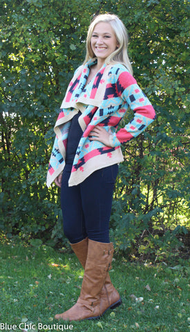 Fire Side Cardigan - Blue Chic Boutique  - 4