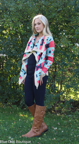 Fire Side Cardigan - Blue Chic Boutique  - 5