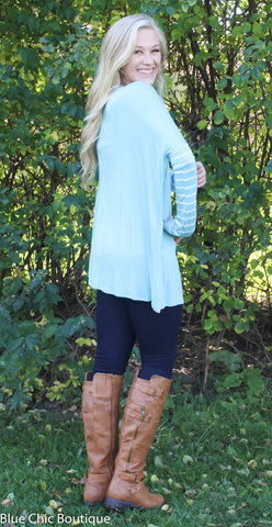 Pastel Stripes Top - Blue - Blue Chic Boutique  - 3