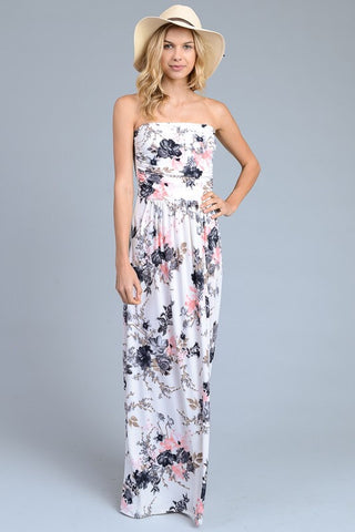 Springtime Joy Maxi Dress - Ivory