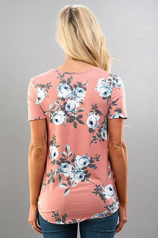 Spring Cheer Floral Top - Black