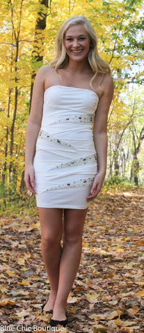 Strapless Stunner Dress - White - Blue Chic Boutique  - 5