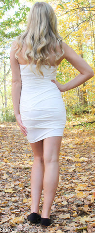 Strapless Stunner Dress - White - Blue Chic Boutique  - 7