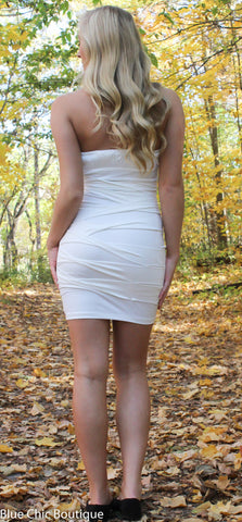 Strapless Stunner Dress - White - Blue Chic Boutique  - 8