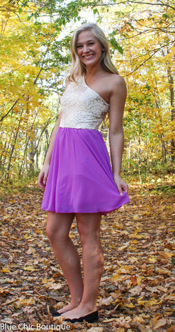Subtle Sparkle Dress - Orchid - Blue Chic Boutique  - 4