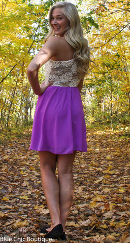 Subtle Sparkle Dress - Orchid - Blue Chic Boutique  - 8