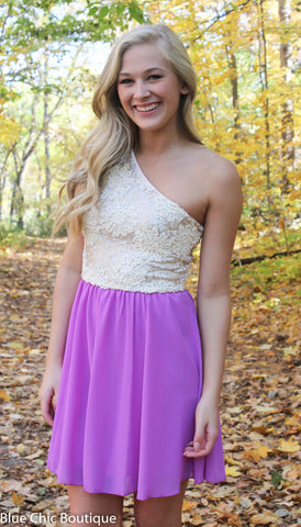Subtle Sparkle Dress - Orchid - Blue Chic Boutique  - 2