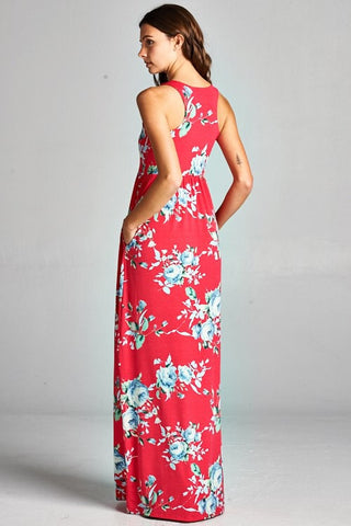 Garden Party Maxi Dress - Hot Pink