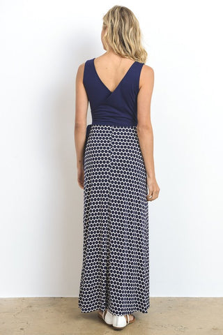 Classic Beauty Maxi Dress - Navy